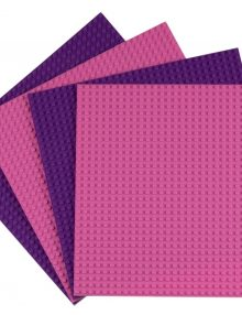 pink purple base plates